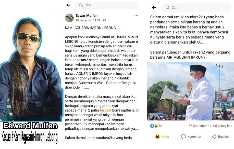 """Edwar Mulfen : """"AIR Lebong Tetap Optimis"""""""
