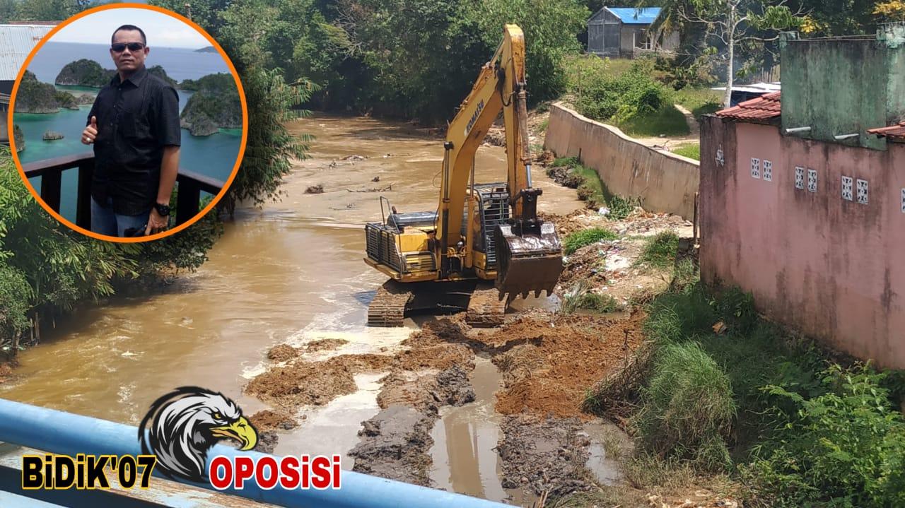 Proyek RR Pelapis di Sungai Air Kotok Sudah Mencapai 60%