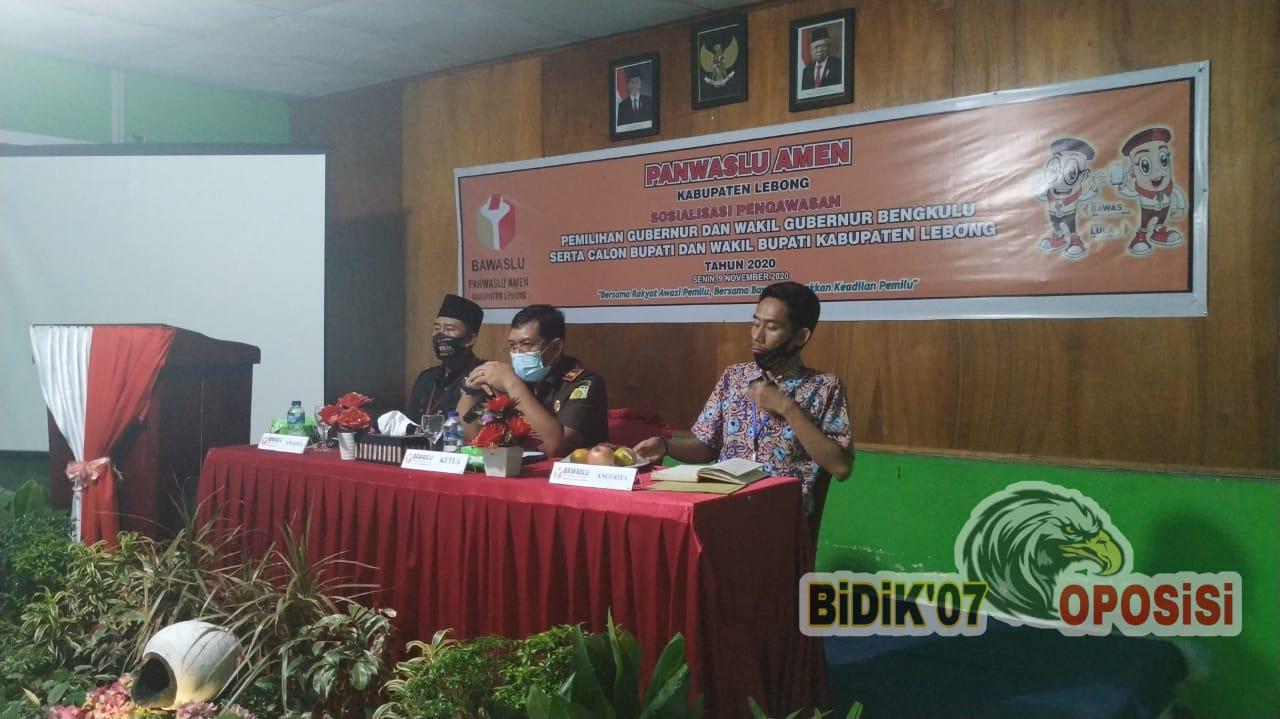 Sosialisasi Panwaslu Amen, Kejari Lebong : Bantuan Sosial dan DD Tidak Diperuntukkan Kepentingan Politik !