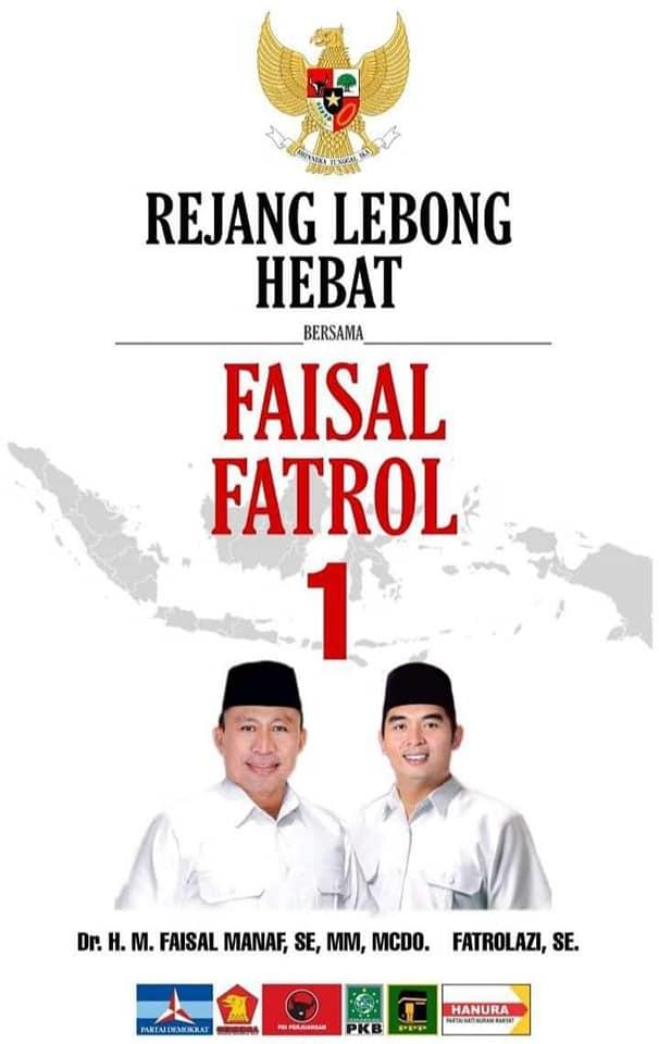 Masyarakat Curup Utara, Siap Menangkan Paslon No. 1 Faisal-Fatrol