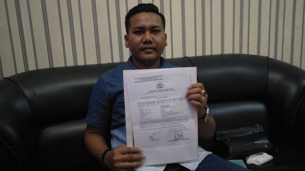 Jefri Suprayogi Dilaporkan ke Poldasu Tuduh Wakapolsek Helvetia Lakukan Pemerasan dan Perampasan