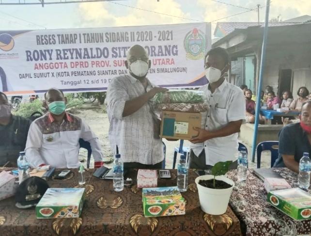 Reses Anggota DPRD Prov Sumut Janji Perhatikan Kelangkaan Pupuk Subsidi di Simalungun