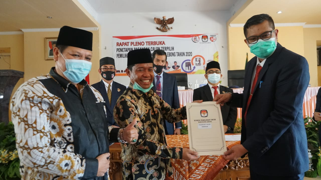 Pleno Terbuka KPU Kopli Ansori – Fahrurrozi Ditetapkan Bupati & Wakil Bupati Lebong