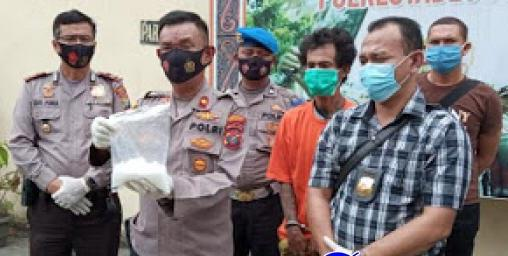 Diimingi Rp 3 Juta, Polsek Medan Timur Tangkap Kurir Sabu