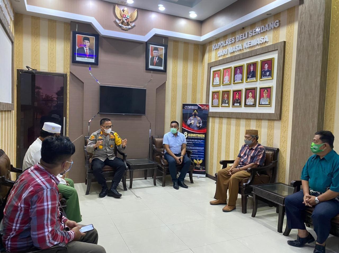 Polresta Deli Serdang Terapkan Restorative Justice, Kasus Masjid Jami Agung Lubuk Pakam