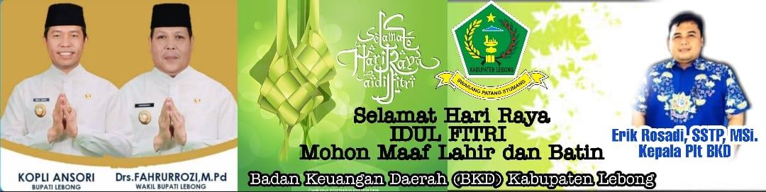 Badan Keuangan Daerah (BKD) Kabupaten Lebong, Mengucapkan Selamat Hari Raya Idul Fitri