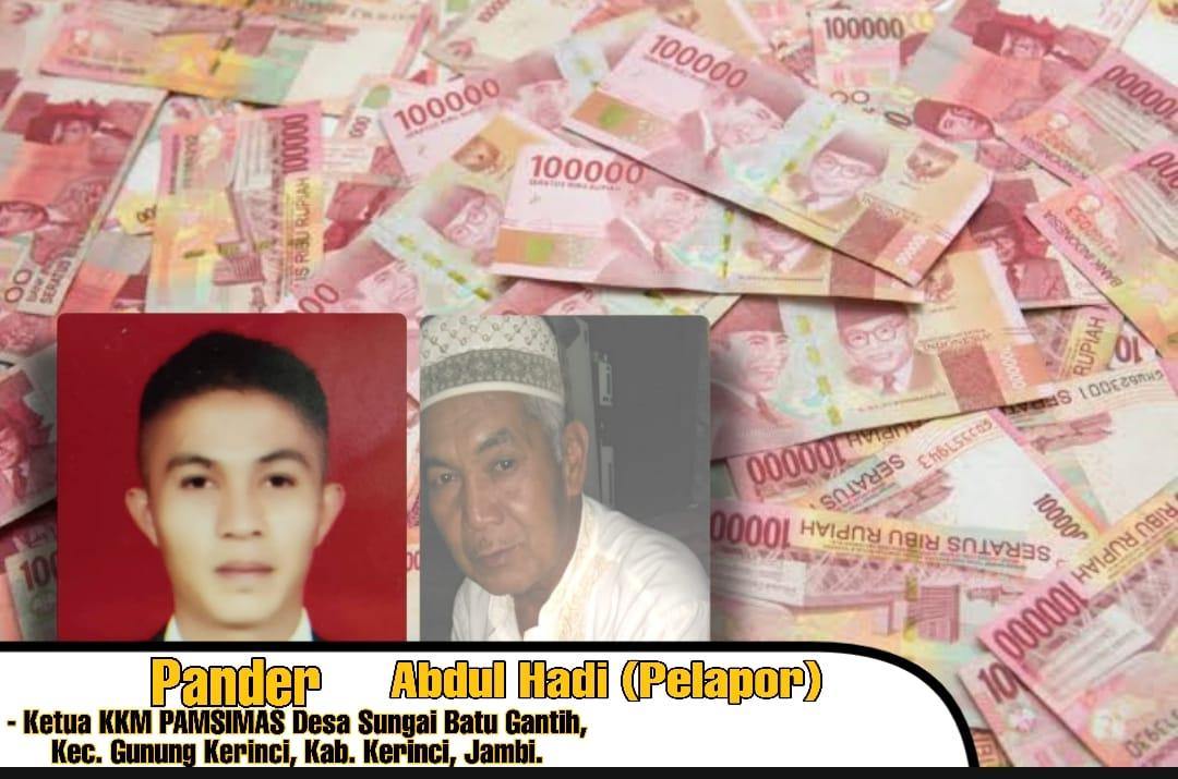 Pander Ketua KKM Pamsimas, Rp. 126 Juta Dana Dikelola PUPR Kerinci