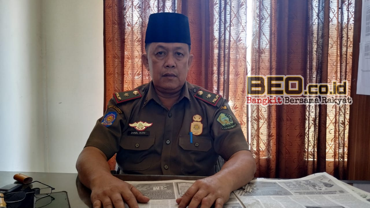 Sat Pol PP Lebong : Tim Yustisi Himbau Patuhi Prokes, Jemur Gabah Dijalan Akan Disidak