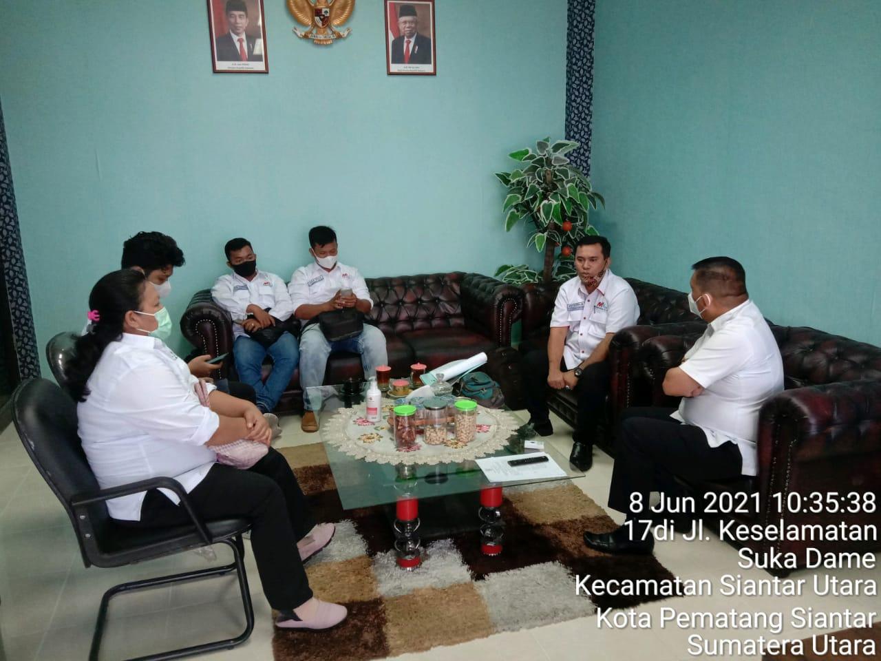 MIO Siantar Simalungun Audiensi Kekantor BNN Kota Pematang Siantar