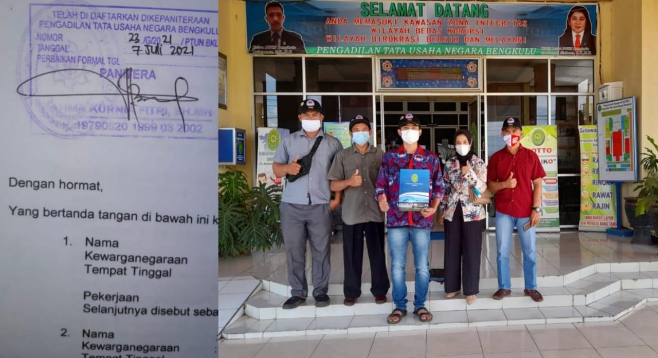 Hentikan Perangkat Desa Maunya, Pjs Kades Sukau Kayo Digugat PTUN Bengkulu