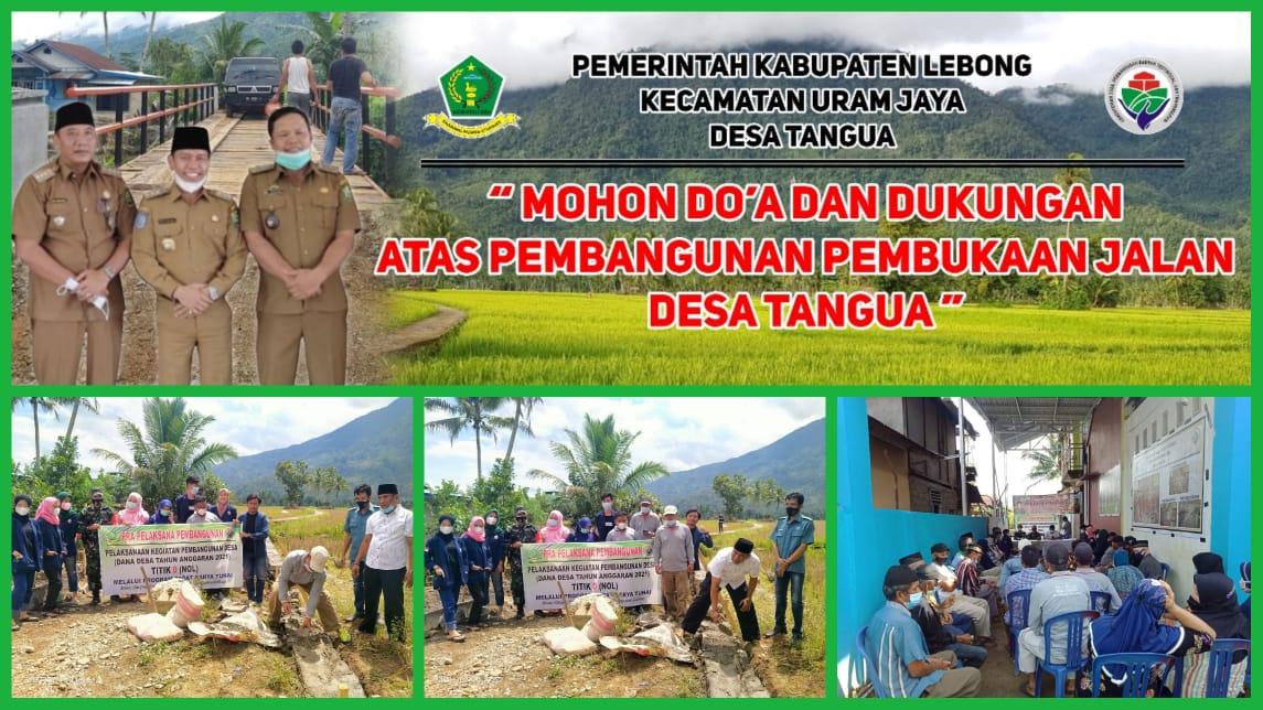 Desa Tangua Titik Nol Awali Pembangunan Tahap 1 Pembukaan Jalan Baru