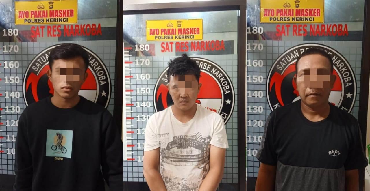 3 Pelaku Penyalahgunaan Narkoba Ditangkap Satresnarkoba Polres Kerinci