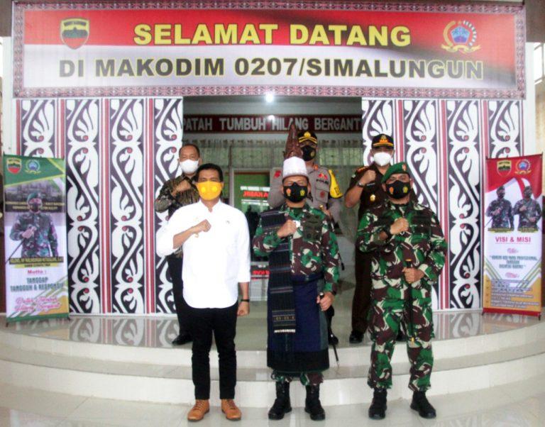Kapolres Pematangsiantar Menghadiri Undangan Kunjungan Kerja Danrem 022/PT ke Kodim 0207/Simalungu