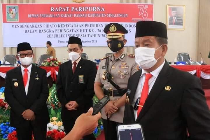 Bupati Radiapoh Hasiholan Sinaga : Dimasa Pandemi Covid Harap Masyarakat Patuhi Prokes