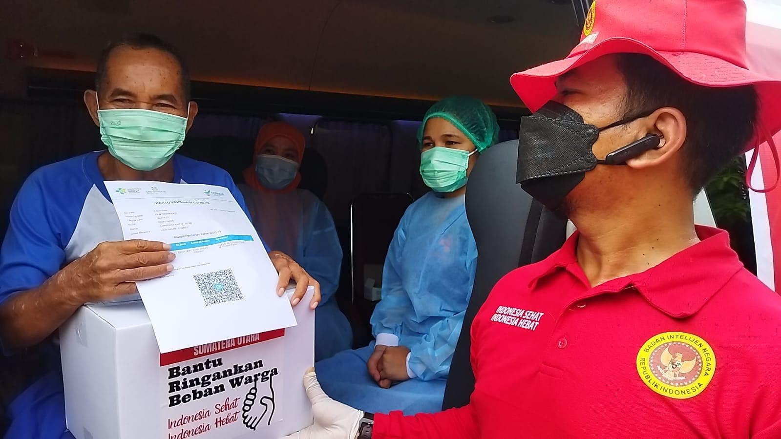 Program Vaksin Covid-19 door to door BIN Berlanjut Kelurahan Berngam, Kota Binja