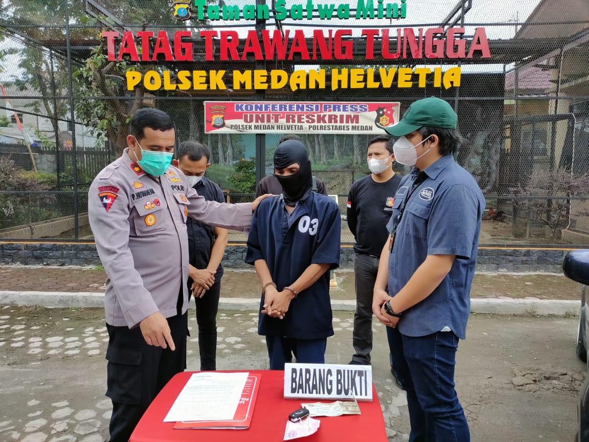 Residivis 362 Modus Nginap Di Rumah Temen, Ditangkap Polsek Medan Helvetia